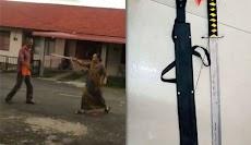 Heboh Wanita Acungkan Samurai Saat Adu Mulut dengan Tetangga