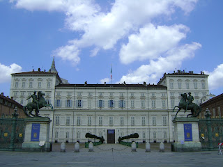 The Biblioteca Reale is housed inside the Royal Palace in Turin's Piazzetta Reale