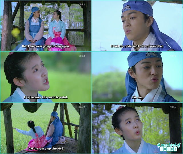 Prince yeok & Chae Kyung stay in the fields to avoid rain - Seven Day Queen: Episode 3 korean Drama
