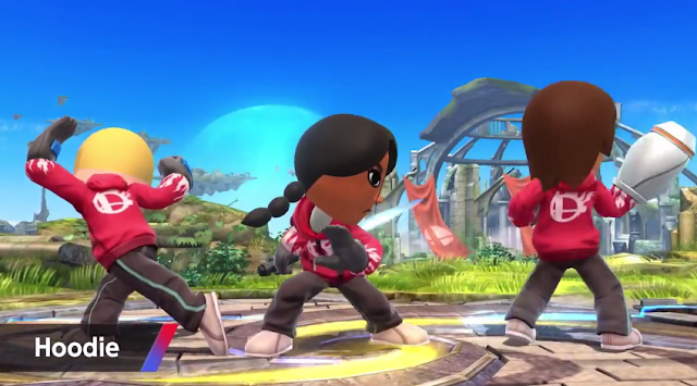 Mii Fighter hoodie Super Smash Bros. For Wii U black kid