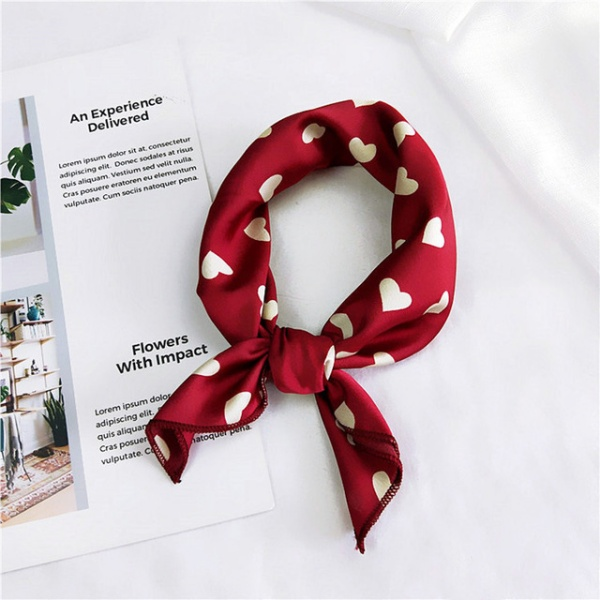 Women Square Scarf Hair Tie Band For Business Party