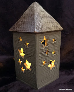 Star lantern in the dark