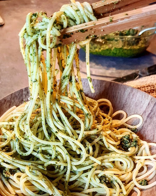 Pesto maison noix de cajou/basilic