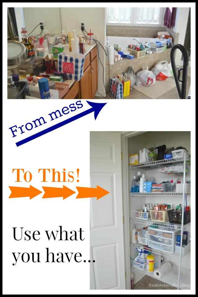 Organizing & Purging {My Linen Closet}