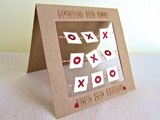 Tic Tac Toe Love Card from CutCardStock.com guest designer Michelle