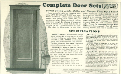 Sears interior door offering from 1930 Sears building supplies catalog