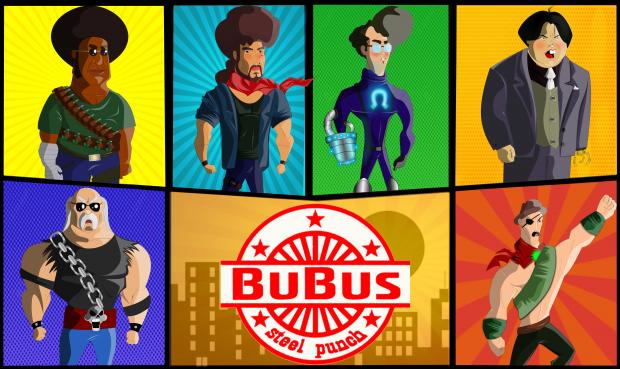 Inspirado em jogos clássicos onde a pancadaria comia solta e a diversão era obrigatória, Bubus Steel Punch anuncia seu projeto de crowdfunding.