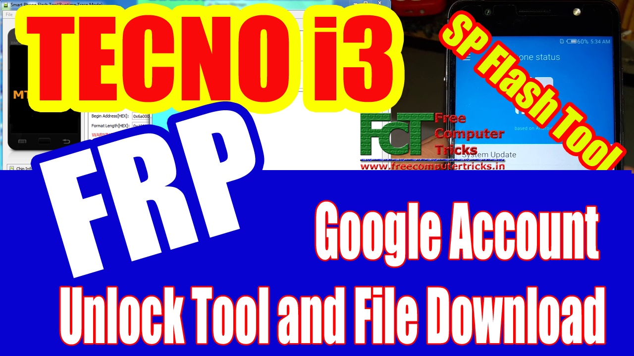 TECNO i3 Android 7 0 Google Account Unlock Tool and File