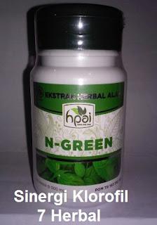 khasiat N Green Original Asli Hpai kapsul sinergi 8 klorofil hijau daun tradisional