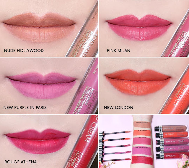 Review & SWATCHES Face2Face Soft Matte Lip Cream all shade