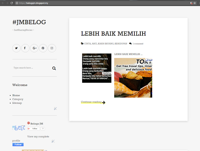 Template Belogs JM dari newbloggerthemes.com