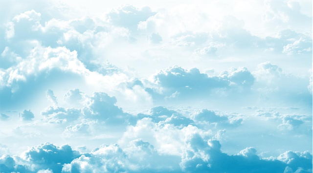 Clouds Sky Cartoon Vector Images Sun Background