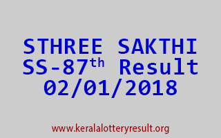 STHREE SAKTHI Lottery SS 87 Results 2-1-2018