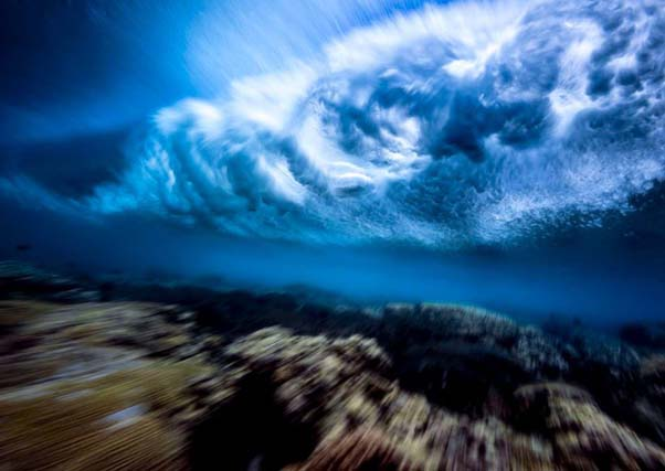 Underneath Waves - 28 Awe Inspiring Photos That Prove Just How Cool Mother Nature Is