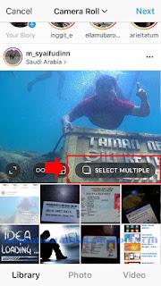 cara posting multiple photo di instagram