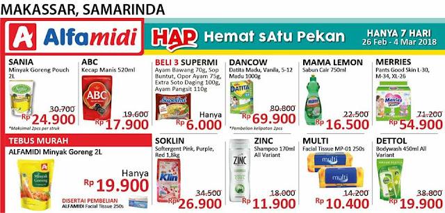 Katalog Harga Promo Alfamidi 26 Februari - 1 Maret 2018