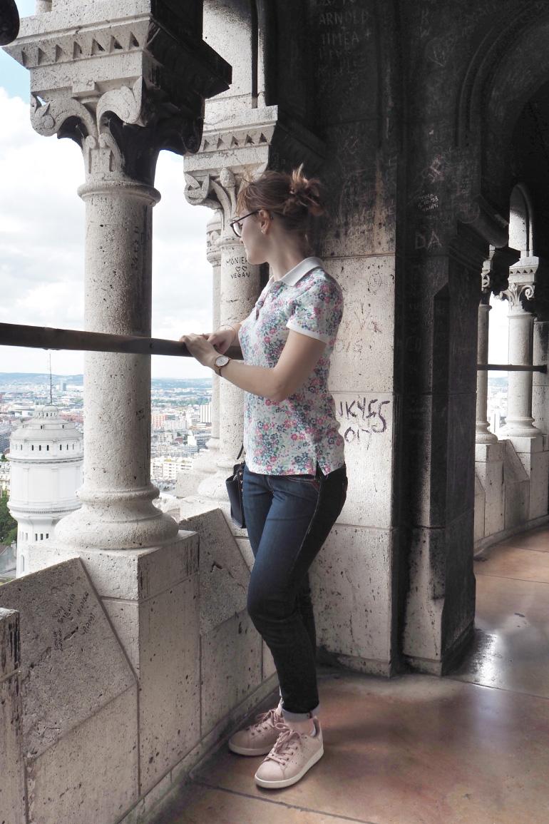 Louise Grenadine dans le dôme de la basilique Sacré-Coeur de Montmartre