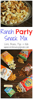 Ranch Party Snack Mix - family friendly snack for all ages for your next party, tailgate, holiday or back to school celebration