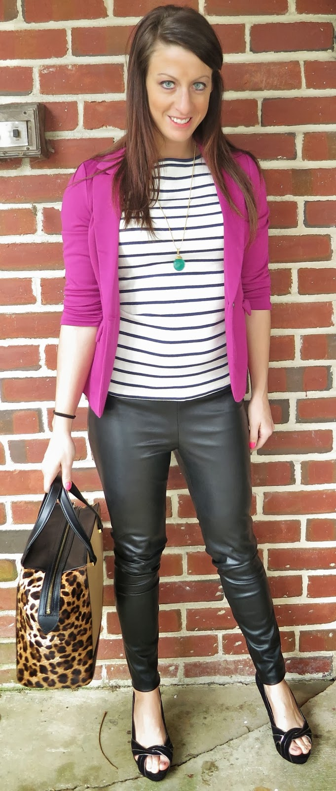 Fashion, kate spade, leather leggings, leopard, ootd, Outfit Ideas, outfit of the day, Outfits, what i wore,