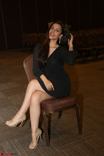 Kyra Dutta in black At Rogue Movie Audio Launch ~  027.JPG
