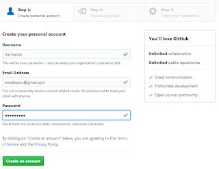 Create Personal Account