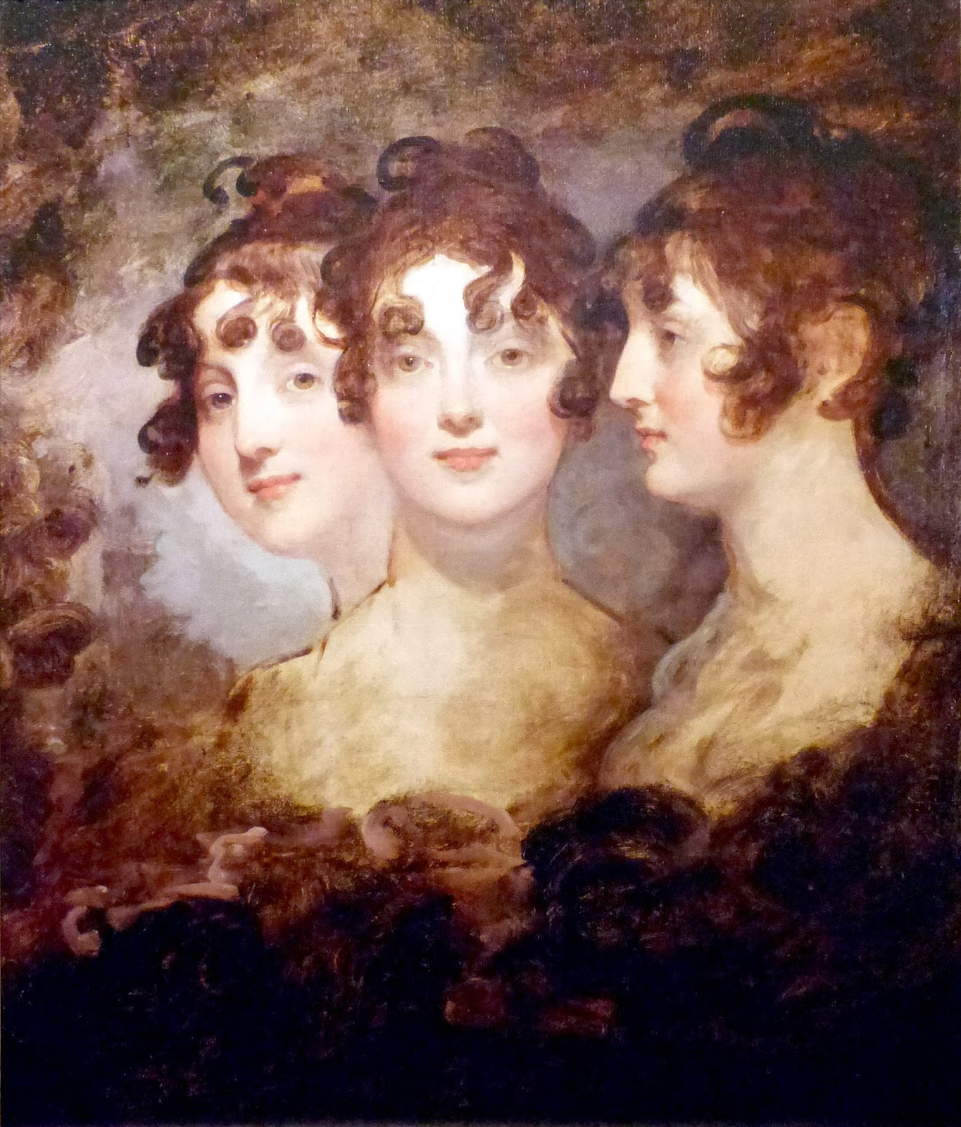 Painting of Betsy from each side of her face.