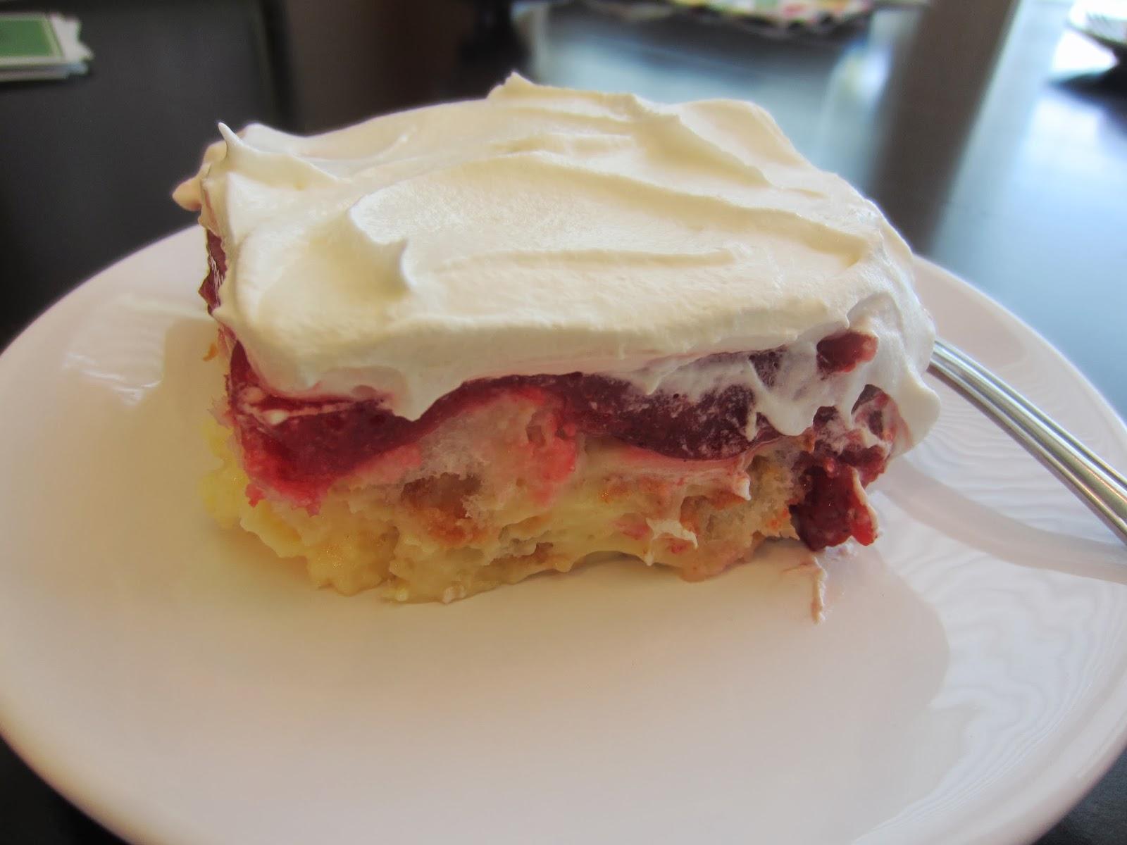 Strawberry Jello Angel Food Cake Dessert