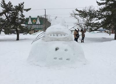 大沼公園の雪像
