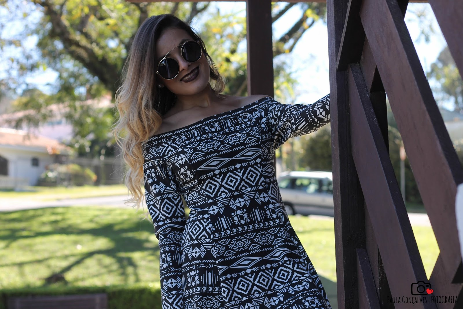 Vestido manga longa e bota over the knee - ally arruda