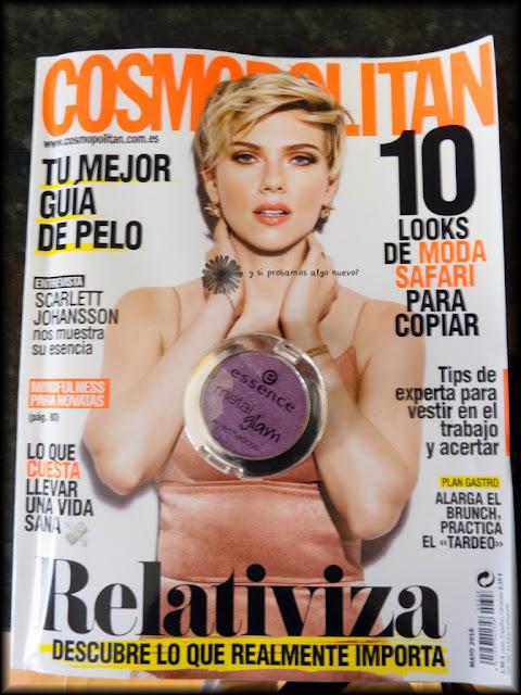 Metal glam de Essence con Cosmopolitan