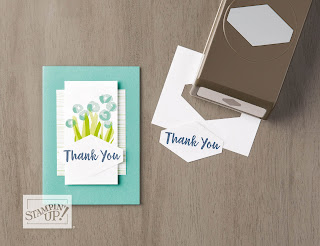 Stampin' Up! Abstract Impressions Thank You Card ~ 2018-2019 Annual Catalog