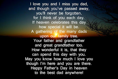 Father's Day to My Dad in Heaven Poems