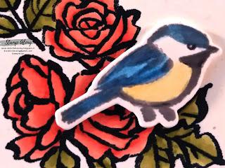 Stampin'Up! Petal palette, in de bloemetjes zetten, blends