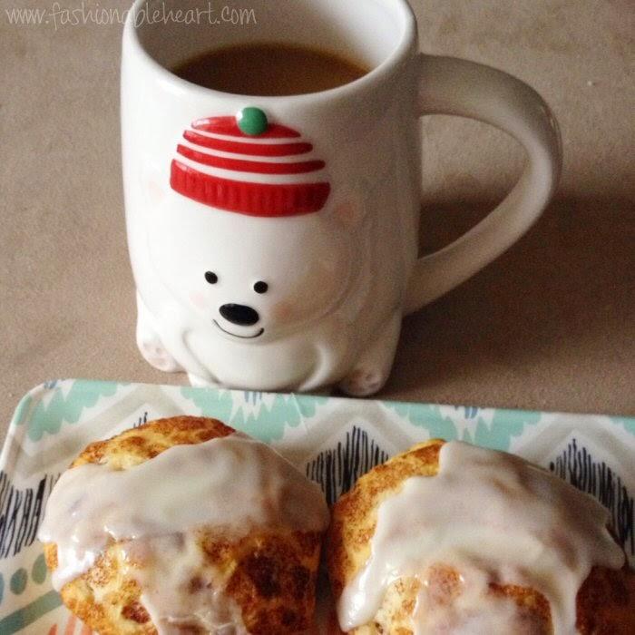 christmas breakfast cinnamon rolls polar bear mug homesense