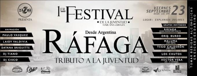 Ráfaga el tributo de Argentina en Arequipa, Festival de la Juventud - 23 de setiembre