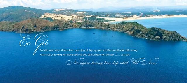Vị trí tại Eo Gió đẹp nhất Việt Nam