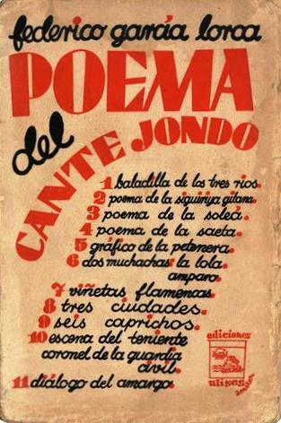 Portada de Poema del cante jondo. Madrid: Ediciones Ulises, 1931