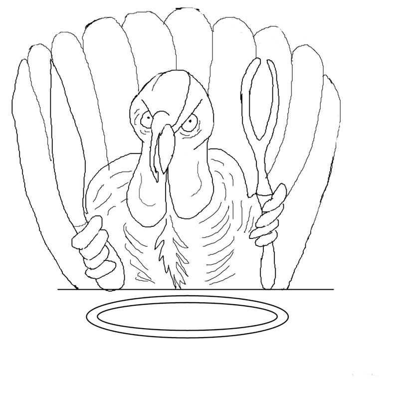 Thanksgiving Coloring Pages: Funny Thanksgiving Turkey ...