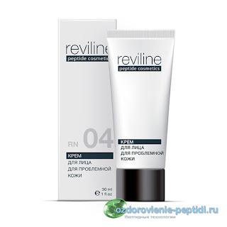 Крем для лица для проблемной кожи с пептидами с противовоспалительным и регенерирующим эффектом