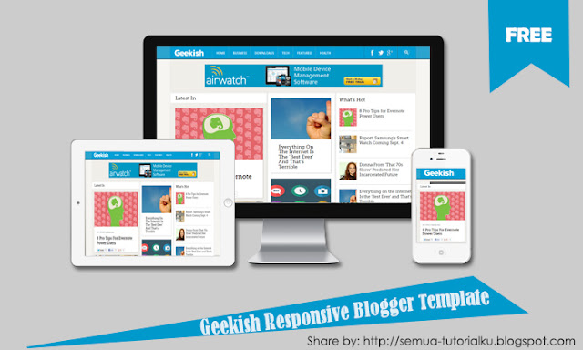 Download Geekish Responsive Blogger Template
