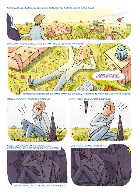 Katarzyna Urbaniak Komiks Wszystko będzie dobrze,  konkurs na krótką formę komiksową mfkig2018 Scenariusz piotr szulc_4