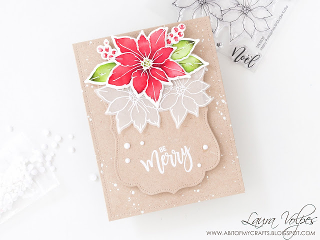 christmas-card-kraft-studio-katia-merry-poinsettias