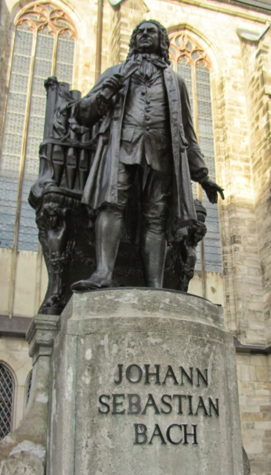 JS Bach at the Thomaskirche, Leipzig