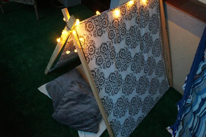 DIY: Jak tanio i szybko zrobić namiot dla dziecka?