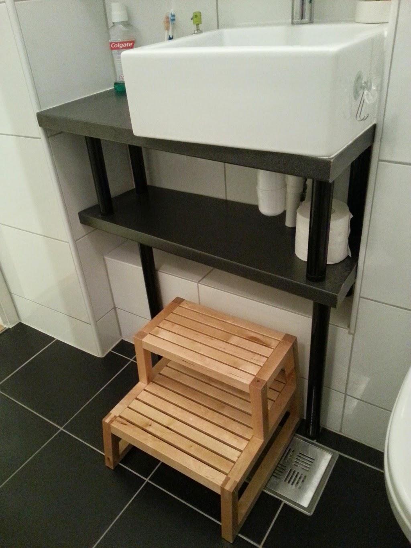 Custom bathroom unit with adils legs ikea hackers - Bathroom items that start with l ...