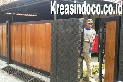 Pintu Pagar Besi Kombinasi Kayu Kamper Pemasangan Tebet Timur Dalam