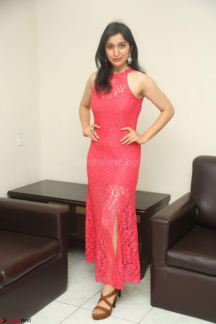 Sakshi Kakkar in Red Legsplit Sleeveless Gown at Dare movie Press meet ~  Exclusive 004.JPG