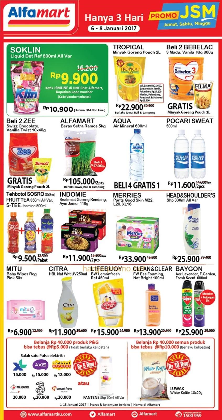 Katalog Harga Promo Alfamart Akhir Pekan 6 – 8 Januari 2017