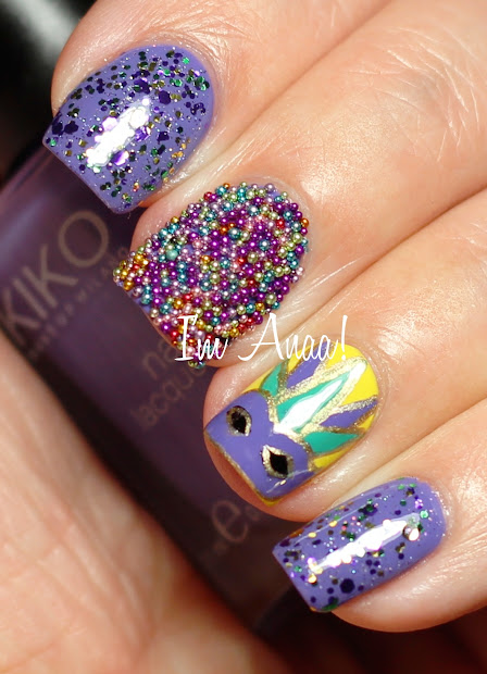 Mardi Gras Nails
