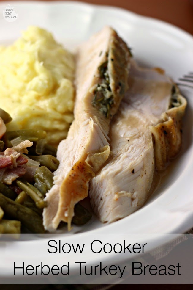 Slow Cooker Herbed Turkey Breast:  Perfect turkey breast EVERY. SINGLE. TIME!  Best method I have found to cook a whole turkey breast!
